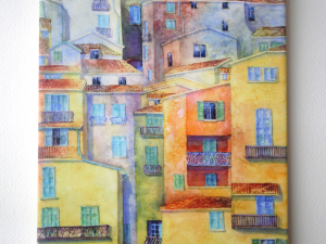 Watercolor Italy Art Tile